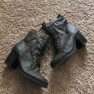 "JustFab 2"" Heeled Zippered Boots"